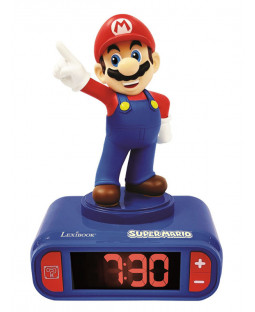 Nintendo Super Mario Night Light Alarm Clock