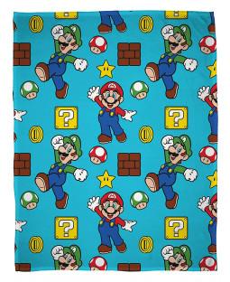 Coperta in pile Nintendo Super Mario