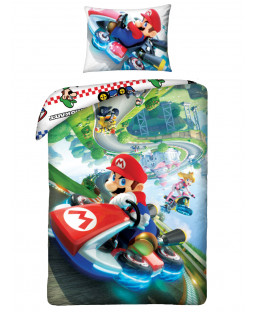 Nintendo Mario Kart Single Duvet Cover Set - European Size