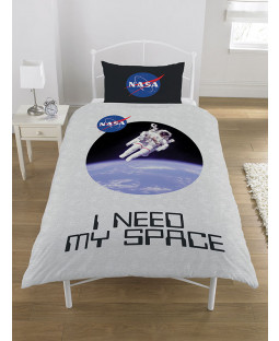 NASA I Need My Space Copripiumino singolo e set federa