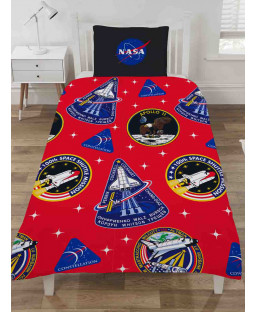 NASA Mission Badges Single Duvet Cover Set
