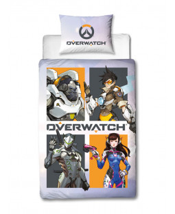 Overwatch Grid Single Duvet Cover Set Front
