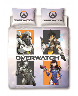 Overwatch Grid Double Duvet Cover Set Front