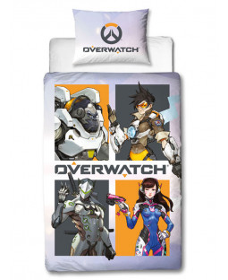 Overwatch Grid Single Duvet Cover Set