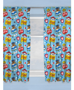 "Paw Patrol Peek Curtains 54"" Drop"