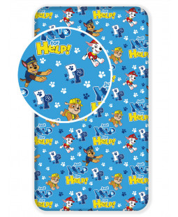 Paw Patrol Blue Single Fitted Sheet