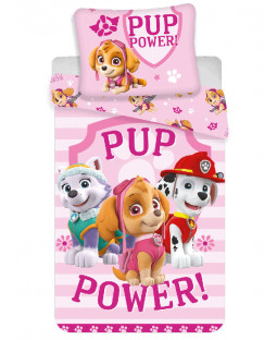 Paw Patrol Pup Power Single Cotton Duvet Cover Set