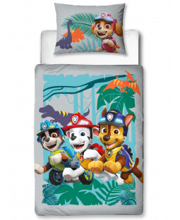 Paw Patrol Dino 4 in 1 Junior Bedding Bundle Set (Duvet, Pillow and Covers)