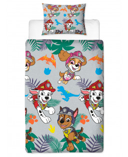 Paw Patrol Dino Single Duvet Cover Set - Rotary Design