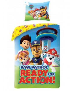 Ensemble de housse de couette simple Paw Patrol Action - Taille européenne