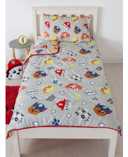 Juego de edredón y funda de almohada Paw Patrol Buddy Coverless Single 4.5 Tog