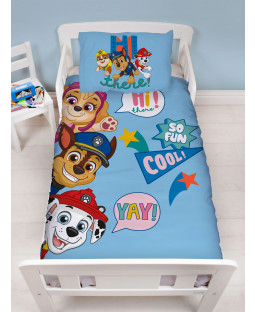 Paw Patrol Cool 4 in 1 Junior Bedding Bundle Set (Duvet, Pillow and Covers)