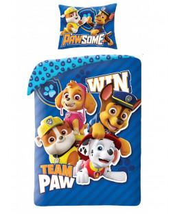 Paw Patrol Team Paw 100% Cotton Single Duvet Set - European Size