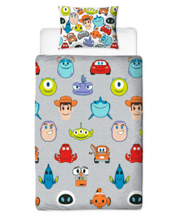 Disney Pixar Emoji Single Duvet Cover Set