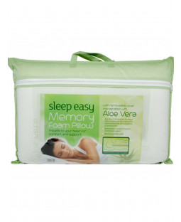 Cuscino in memory foam con rivestimento in aloe vera Sleep Easy - Rigido