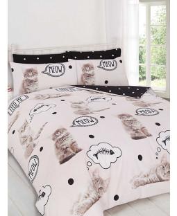 Kittens Single Duvet Cover and Pillowcase Set