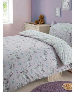Magic Unicorns Single Duvet Cover and Pillowcase Set