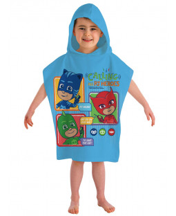 PJ Masks Calling All Heroes Hooded Poncho Towel
