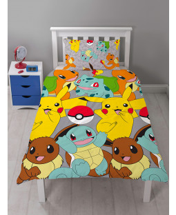 Pokémon Catch Single Duvet Cover Bedding Set