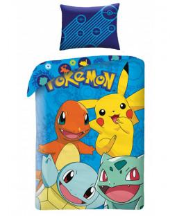 Pokémon Blue Single Cotton Duvet Cover and Pillowcase Set