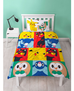 Pokémon Newbies Single Reversible Duvet Cover Set - Rotary Design