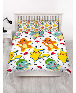 Pokémon Memphis Double Duvet Cover and Pillowcase Set
