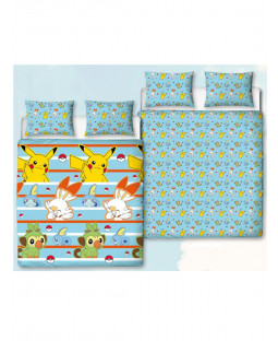 Pokémon Jump Double Duvet Cover and Pillowcase Set