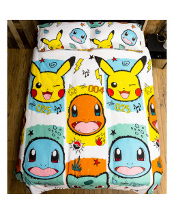 Pokémon Rocks Double Duvet Cover and Pillowcase Set
