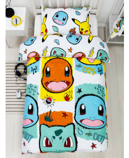 Pokémon Rocks Single Duvet Cover and Pillowcase Set