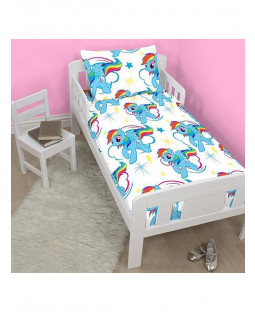 My Little Pony Dash 4 in 1 Junior Bedding Bundle Set (Duvet, Pillow, Covers) unicorn