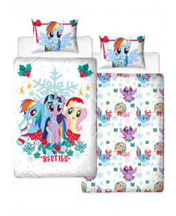 My Little Pony Christmas Holly Single Duvet Cover and Pillowcase Set