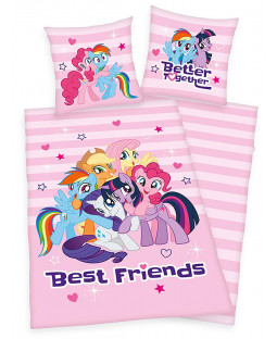 My Little Pony Best Friends Single Duvet Cover and Pillowcase Set