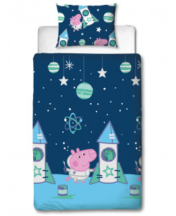 Peppa Pig George Boom Single Duvet Cover Set