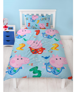 Peppa Pig George Counting Single Duvet Cover Set