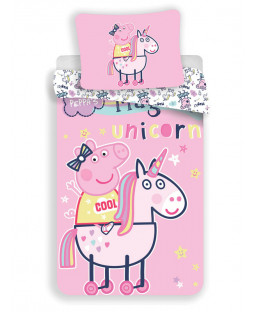Peppa Pig Unicorn Single Duvet Cover Set