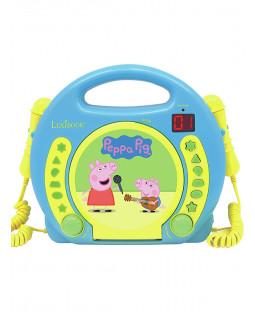 Peppa Pig Reproductor de CD con micrófonos