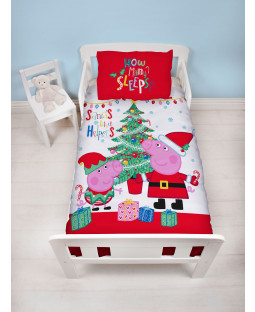 Peppa Pig Noel Junior Panel Duvet Cover Set