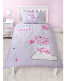 Peppa Pig Sleepy Single Duvet Cover and Pillowcase Set