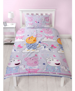 Peppa Pig Sleepy Single Duvet Cover Set - Rotary Design