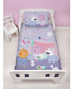 Peppa Pig Sleepy Junior Duvet Cover and Pillowcase Set