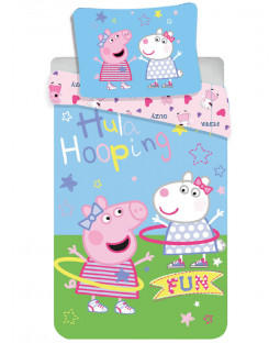 Peppa Pig Hula Single Cotton Duvet Cover Set