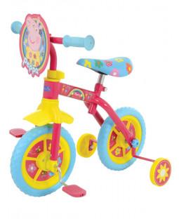 Peppa Pig Happy 2 in 1 10 Inch Training Bike
