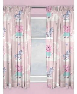 Peppa Pig Stardust Curtains 54 Inch Drop