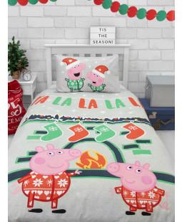 Ensemble de housse de couette simple Peppa Pig Falala
