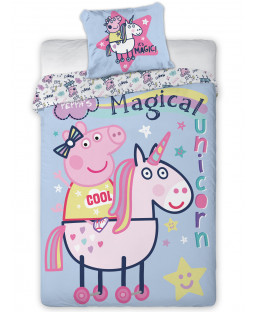 Peppa Pig Magical Unicorn Single Duvet Cover - European Size