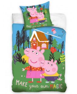 Ensemble de housse de couette simple Peppa Pig Magic - Taille européenne
