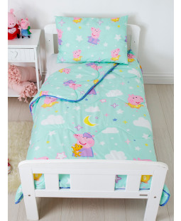 Peppa Pig Dreamer Coverless Junior 4 Tog Quilt and Filled Pillow Set