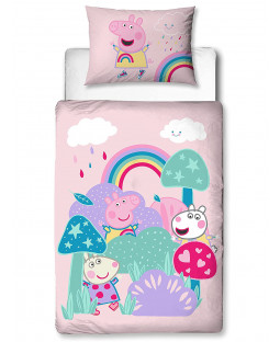 Peppa Pig Storm 4 in 1 Junior Bedding Bundle (Duvet, Pillow and Covers)
