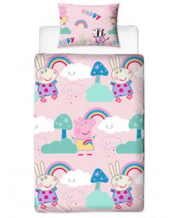 Peppa Pig Storm Single Duvet Cover Set - Rotary Design