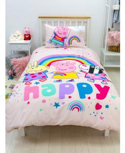 Peppa Pig Storm Panel Single Duvet Cover and Pillowcase Set